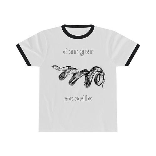 Danger Noodle Snake Honest Animals Unisex Ringer Tee