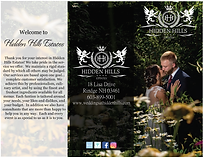 Hidden Hills Estates - Wedding Brochure