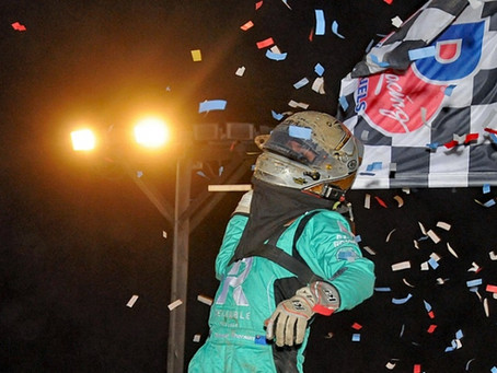 THORSON SURGES FROM 3RD TO 1ST TO WIN WESTERN WORLD MIDGET OPENER