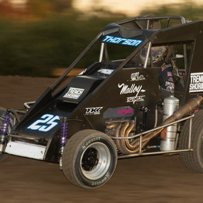 THORSON CLOSES USAC MIDGET SEASON THE SAME PLACE HE STARTED IT: VICTORY LANE