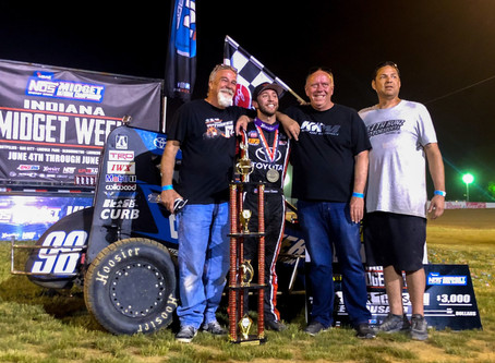 Tanner Thorson Wins USAC Thriller in Indiana Midget Week