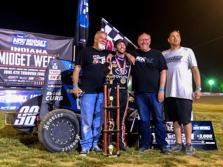 Tanner Thorson Wins USAC Thriller in Indiana Midget Week
