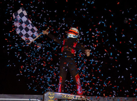 THORSON THUNDERS TO TUESDAY NIGHT TRIUMPH AT RED DIRT - USAC Racing