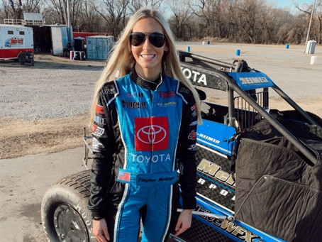 Oklahoma Cheerleader Taylor Reimer Returns to Racing Without Missing a Beat