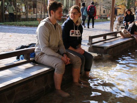 Relax Your Foot in Hot Spring