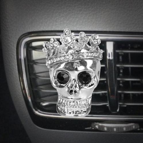 Totenkopf Autoerfrischer mit Kristallsteine