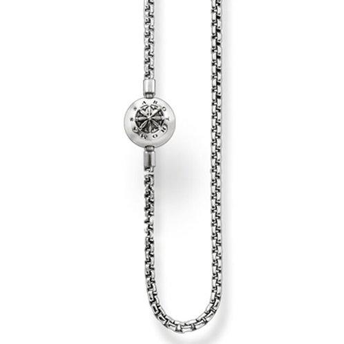 Halskette für Perlen Geschwärzt