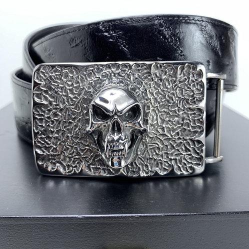 Gürtel Silber Skull