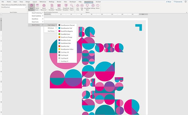 BrandOffice Word Colours