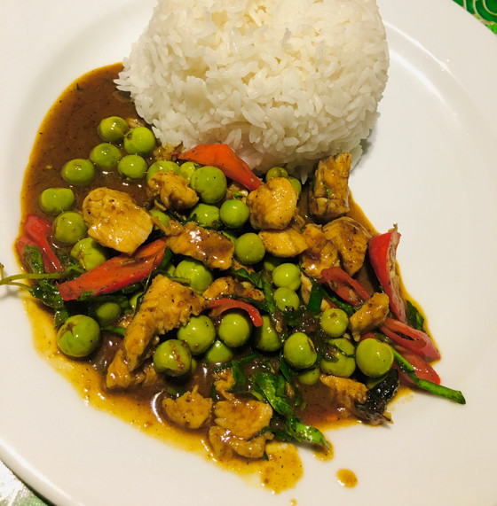 Thaise curry: kip panang curry