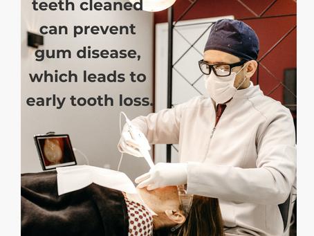 Getting Your Teeth Cleaned Prevents Gum Disease