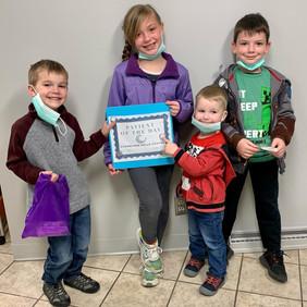 Violet, Henry, Oliver, and Nat