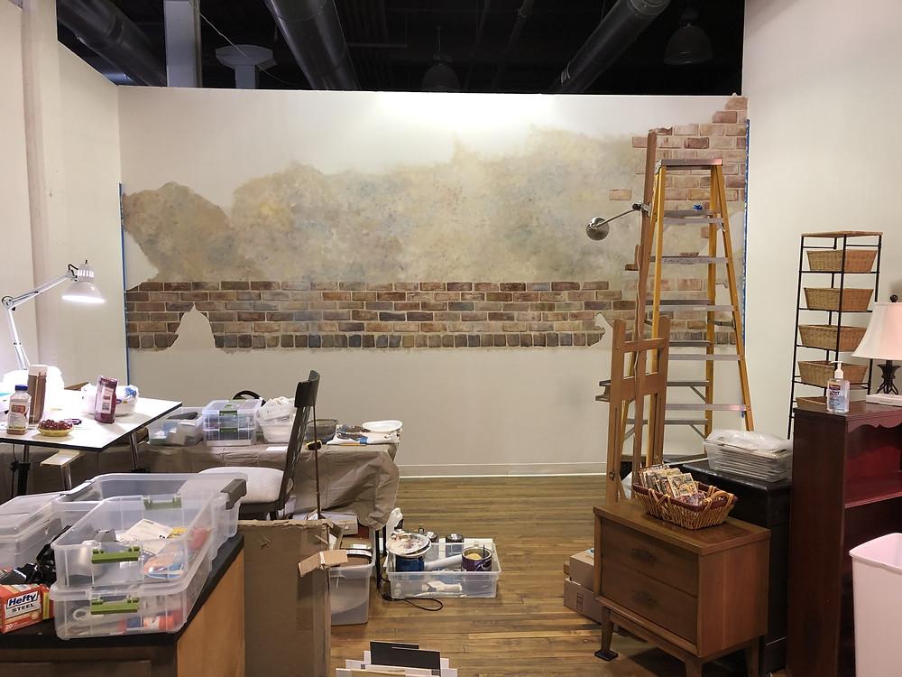 Mural progression at my studio