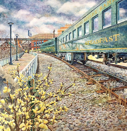 Steadfast: Three Rivers Rambler in Knoxville, TN (Original Painting)