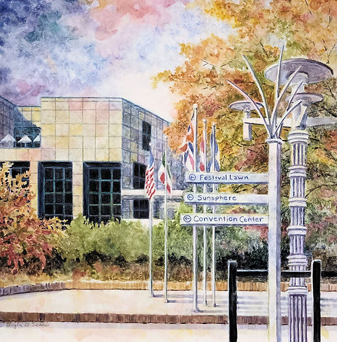 Knoxville Museum of Art and Flags (digital download)