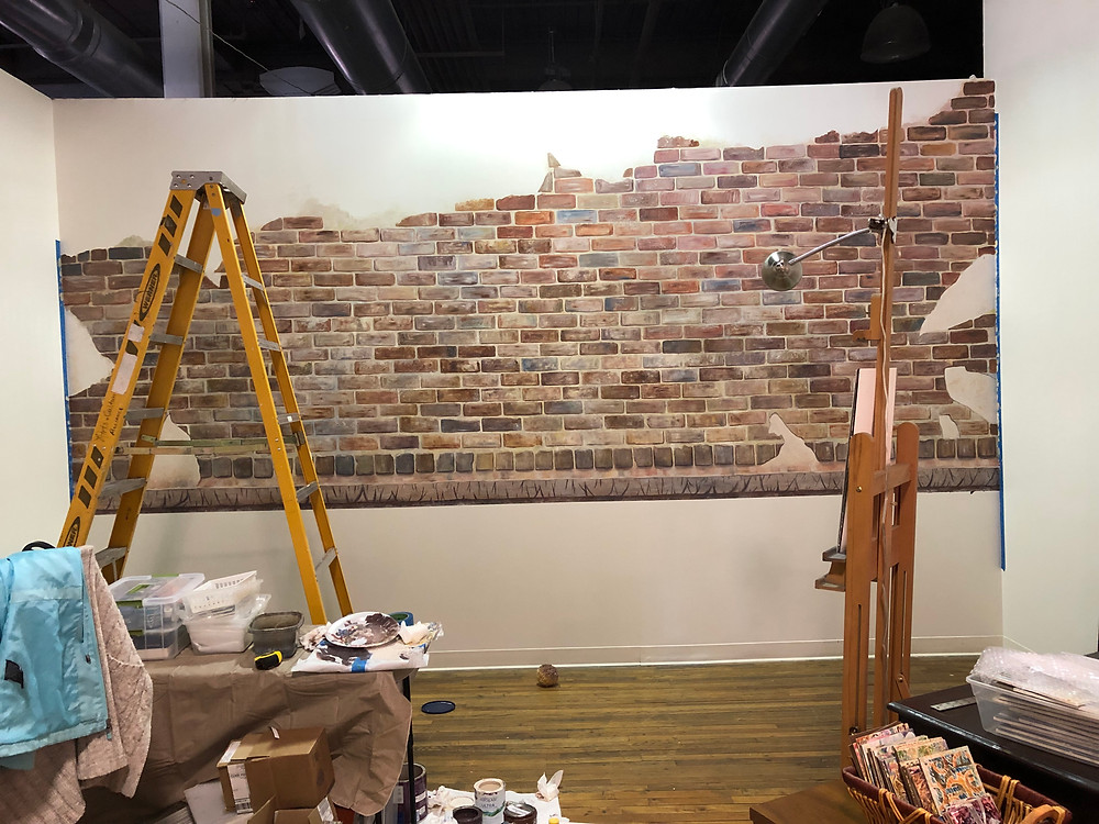 Faux Brick Mural at the Emporium Center