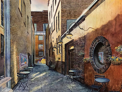 Wallflowers: A Knoxville Alley in Old City (digital download)