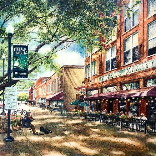 Fireflies on Market Square (Original Painting)