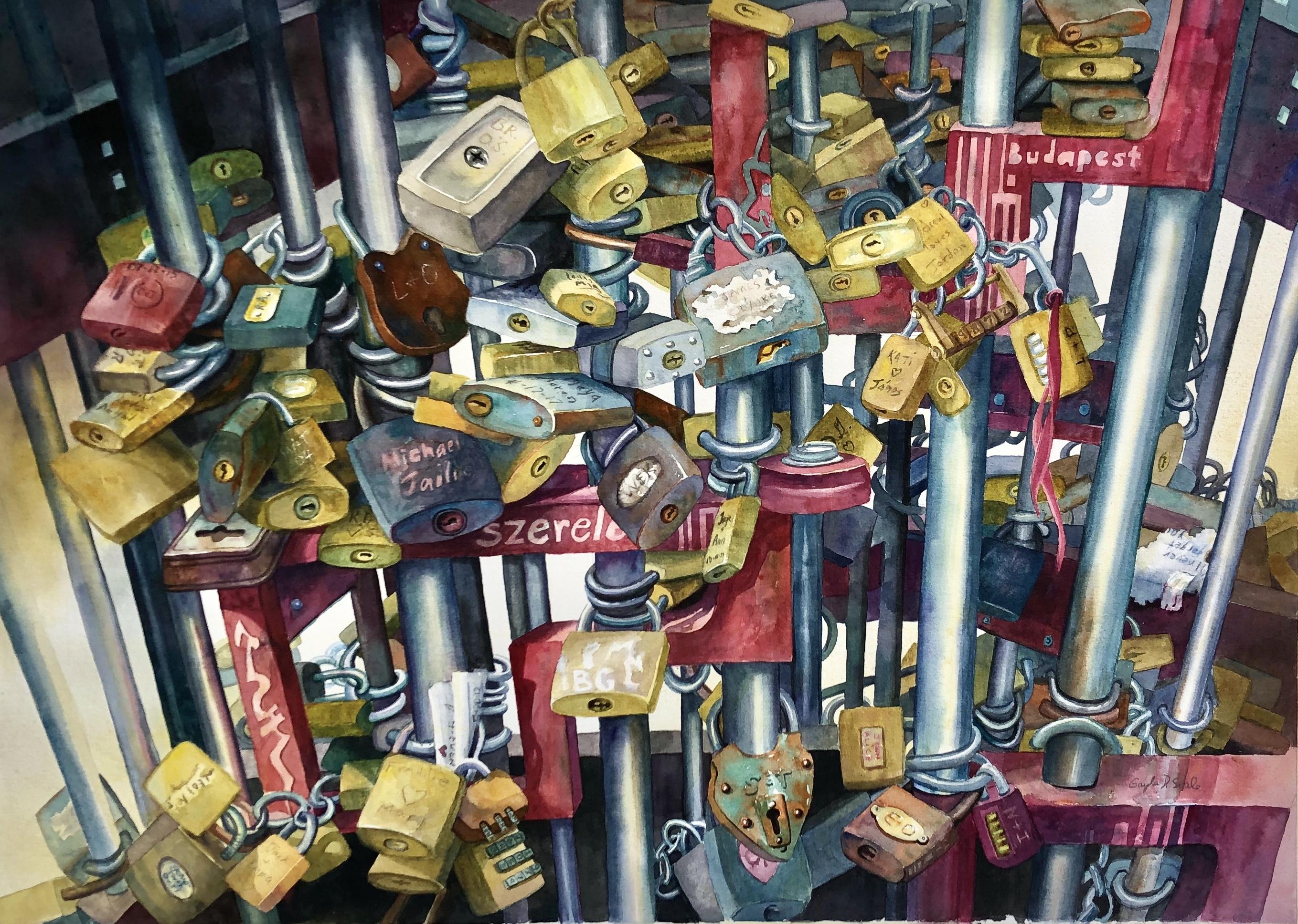 Love Locks in Budapest