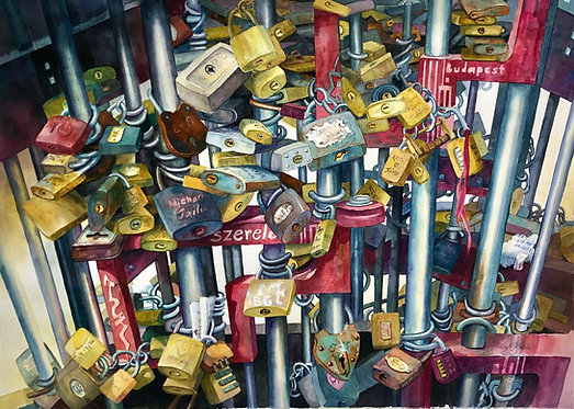 Love Locks in Budapest