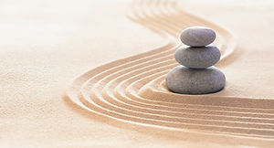 Zen Stones With Lines On Sand - Spa Ther