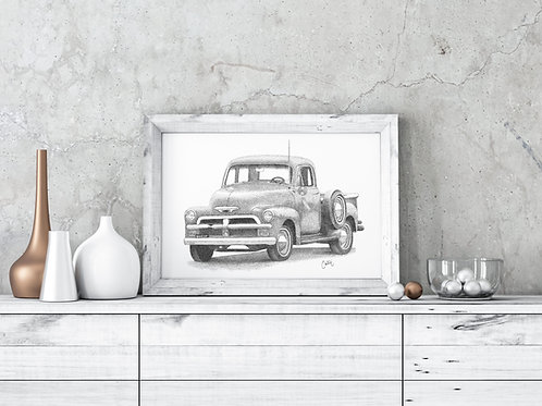 Old Truck Print