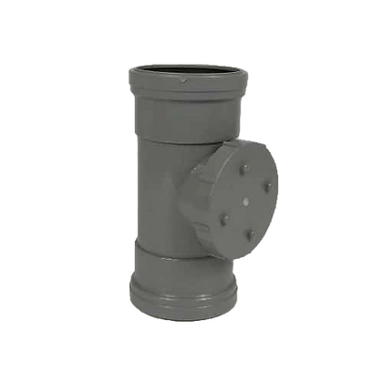 Push-fit Soil 110mm DS Access Pipe Grey SPLG0032