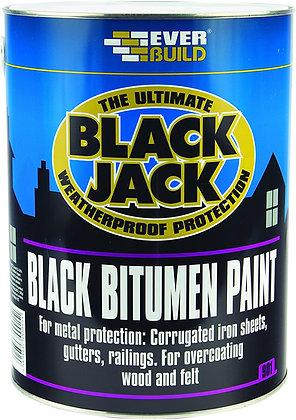 901 Everbuild Bitumen Black Paint 5L BDB017