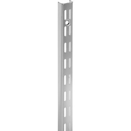 Double Slot Shelving System Chrome 2.1m Upright