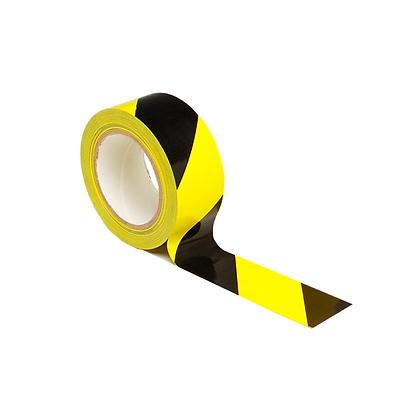 Barrier Tape Euro Black & Yellow Stripe 500m SEWT7