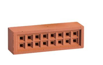 Air Brick 215x65mm Square Hole Red YA13R