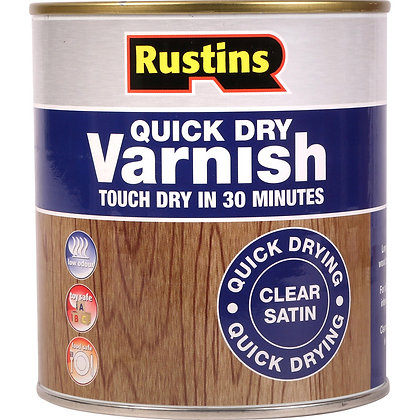 Rustins Satin Varnish Clear Acrylic Quick Drying 1 Litre