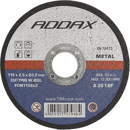 Cutting Disc Flat Metal 115mm x 2.5mm x 22mm FCM115222