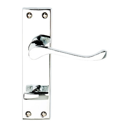 Victorian Scroll Lever Privacy Handles Chrome PCP DP008216