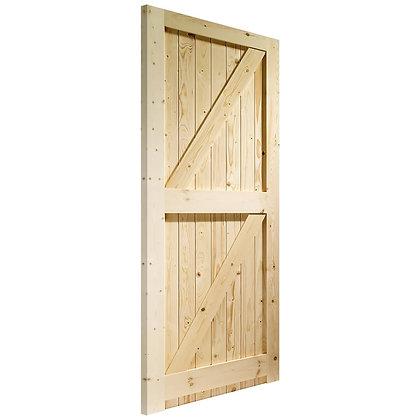 External Framed Ledged and Braced Softwood Door 762 x 1981mm 26x66