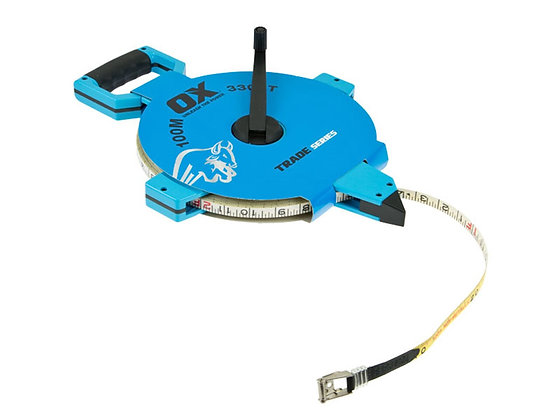 Ox Open Reel Surveyors Tape Measure 100 Metre Ox - T023510