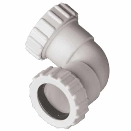 Compression Waste 32mm 90deg Knuckle Bend White EW03W