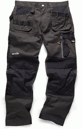 Scruffs 3D Trade Trousers 36W Reg 31L Graphite T51987