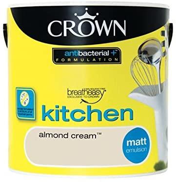 Crown Retail Kitchen Anti Bacterial Matt 2.5L Almond Cream