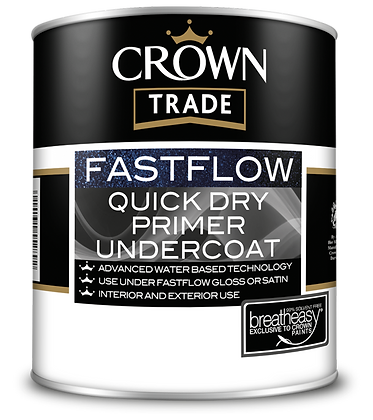 2.5L Crown Trade Fastflow Acrylic Primer Undercoat Exterior/Interior
