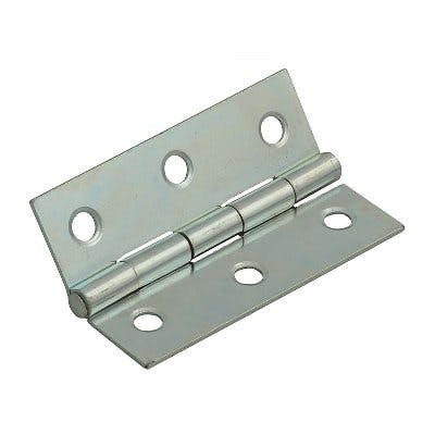 Butt Hinge Light Narrow Steel BZP 75mm 1838 1136