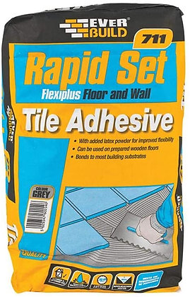 711 Rapid Set Flexiplus Tile Mortar Adhesive 20kg Grey