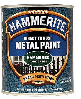 Hammerite Metal Paint 750ml HAMMERED DARK GREEN