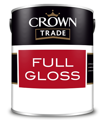 Crown Trade Full Gloss Brilliant White 2.5L Paint