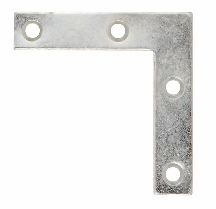 63mm Corner Plate Zinc Plated 324  DH001471