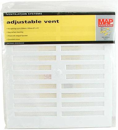 Map Plastic Adjustable Vent 9x9 909-02
