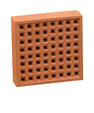 Air Brick 215x215mm Square Hole Red YA15R
