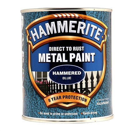 Hammerite Metal Paint 750ml HAMMERED BLUE