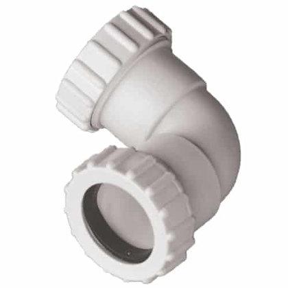 Compression Waste 40mm 90deg Knuckle Bend White EW04W