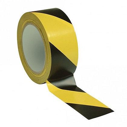 Hazard Warning Tape Self Adhesive Yellow & Black 50mm x 33m